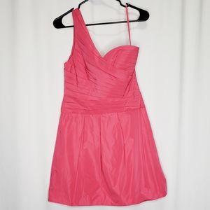 BCBG One Shoulder Pink Cocktail Dress